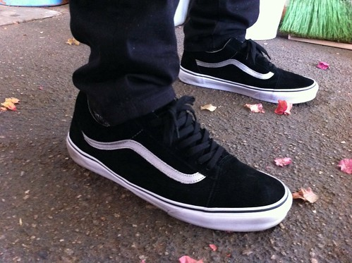 Vans Old Skool All Black On Feet