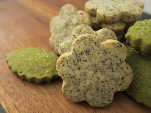 Earl Grey Tea Shortbread and Matcha Green Tea Shortbread Cookies