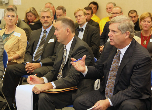 Agriculture Secretary Tom Vilsack leads a Federal Drought Workshop in Omaha, NE on Tuesday, Oct. 9, 2012. This was the first of four regional workshops to outline resources available to assist with drought recovery effort.