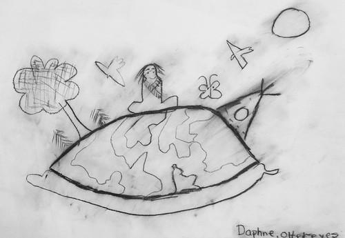 Charcoal Drawing by/Dessin au fusain par Daphne Ottereyes