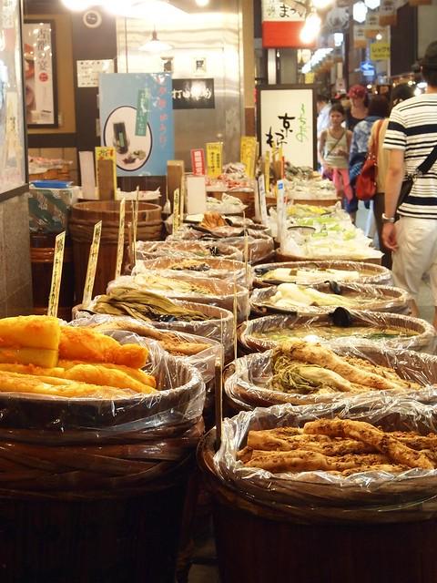 錦市場的醃漬物攤位