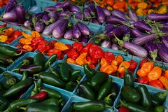 Fall colors: Barajas Produce stand, Silver Spring Farmers Market