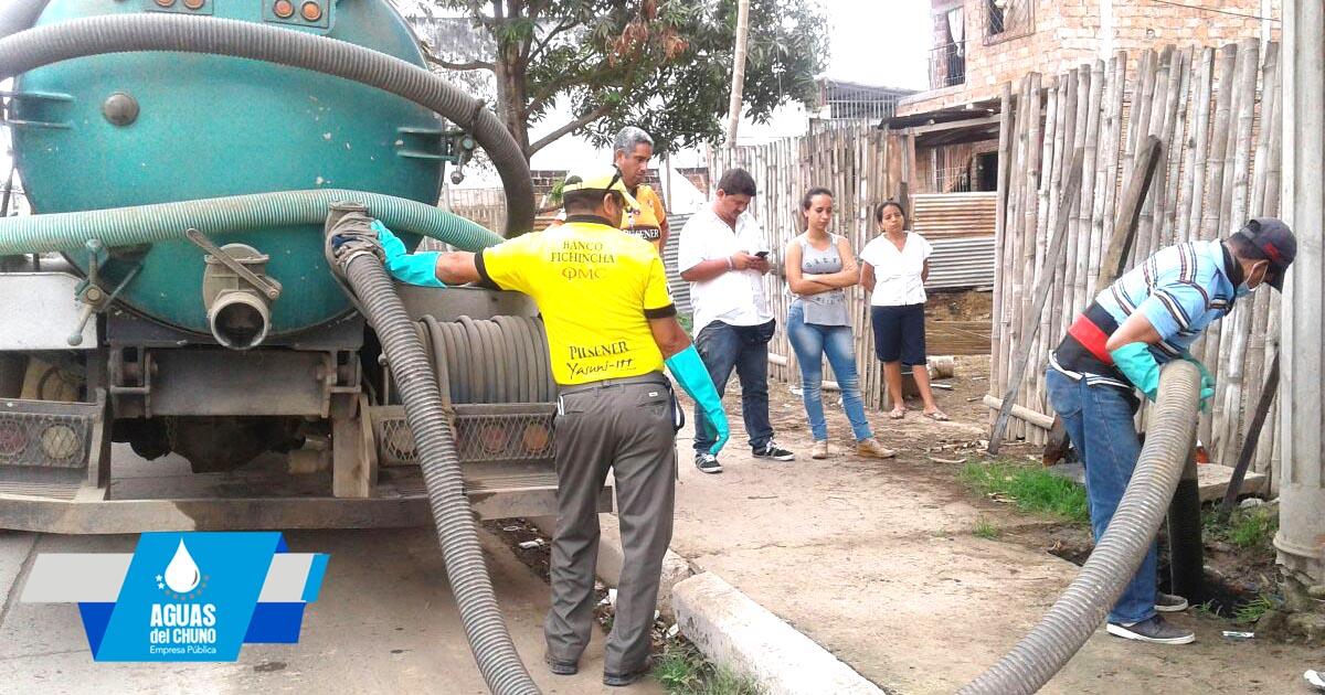 Aguas del Chuno sigue arreglando daños en el sistema de alcantarillado sanitario