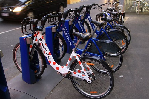 Spotty Melbourne Bike Share bicycle