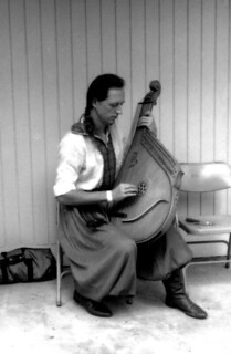 Yarko Antonevych playing the bandura at the Florida Folk Festival: White Springs, Florida