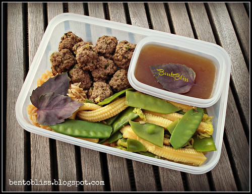 Thai Meatballs Bento