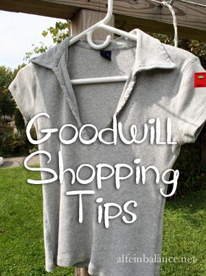 Goodwill Shopping Tips
