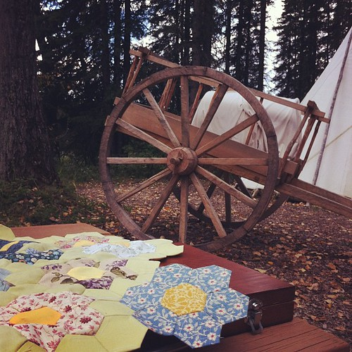 Hexies at Heritage Camping! Rocky Mountain House National Historic Site