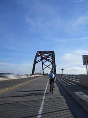 Crossing the Sauvie Island bridge