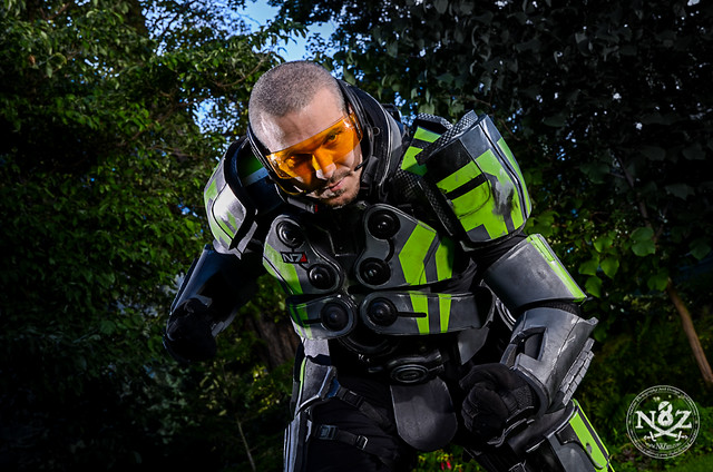 Lime Green Foam Shep from Mass Effect 3