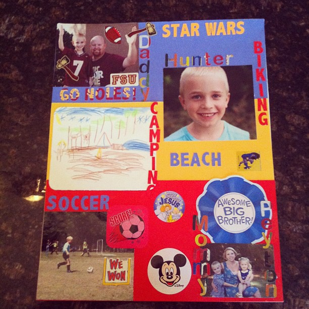 All done! #familyproject #homework #kindergarten
