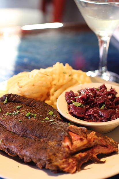 Baby Back Ribs Meal, Blu Que Island Grill, Siesta Key, Sarasota, FL