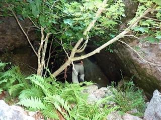Remontée du Haut-Velacu : arrivée sous le bloc coincé