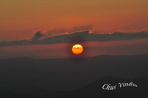 Puesta de sol  desde el Sueve