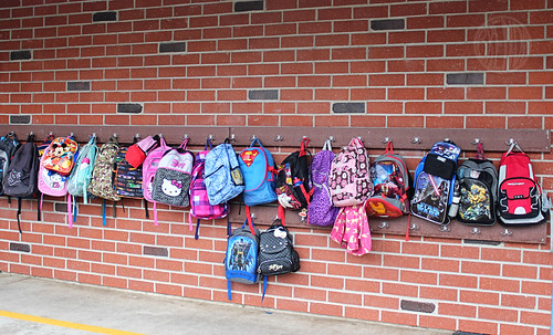 backpacks all lined up
