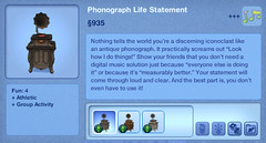 Phonograph Life Statement