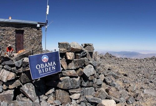 Hikers for Obama / White Mountain Peak
