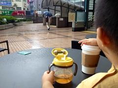 雨が降ってきました - 朝散歩 (2012/9/8)