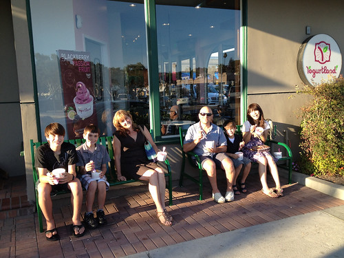 Enjoying some fro yo at Yogurtland