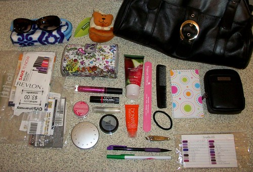 What's in my bag.... or signs I'm becoming a crazy coupon lady