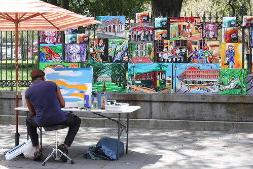 Painter on Jackson Square