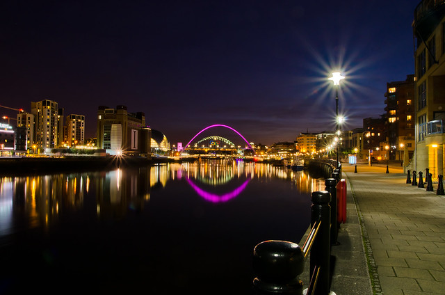 Riverside walk in Newcastle.
