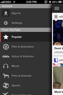 Youtube iOS 6 app