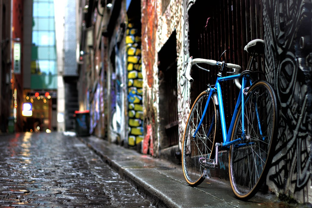 Bicycle in Hosier Lane
