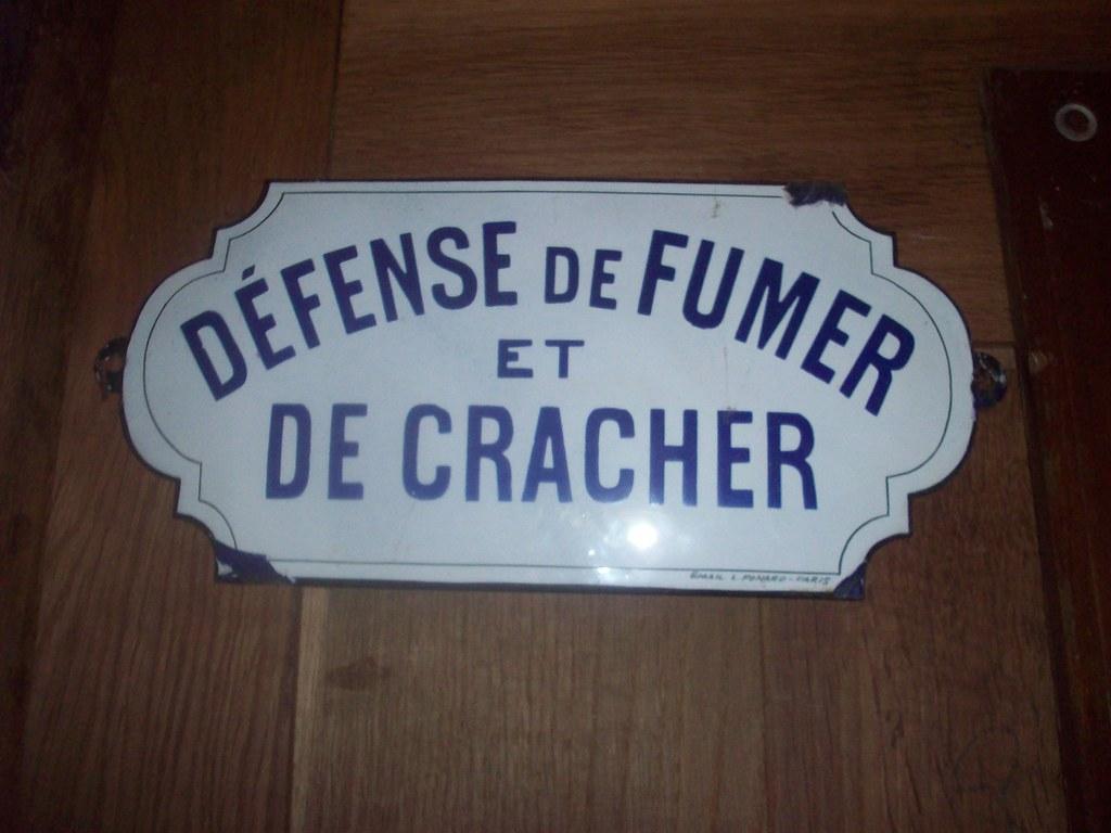 D Fense De Fumer Et De Cracher Plaque Maill E Cabine T L Phonique