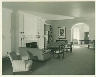 Living room in Mudd/Blaisdell Hall in 1936