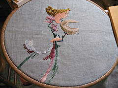 Angel of Spring, after 6 hours of stitching