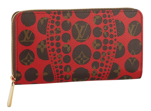 Zippy Wallet Monogram Pumpkin Dots red