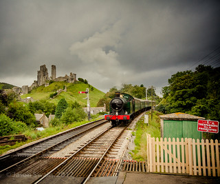 Rainy day on the Swanage Steam Railway