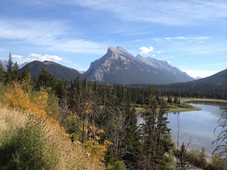 Mount Rundle and autumn colours