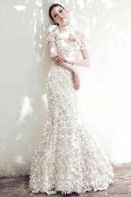 váy cưới thu