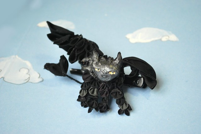 Wish kanzashi snowfoxcreations says you haven t seen a bat kanzashi