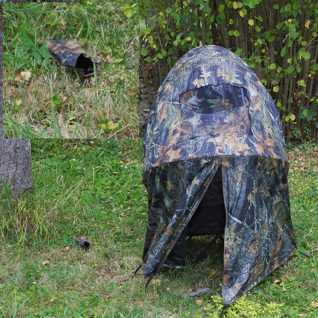 Tente chaise affût, vu de face