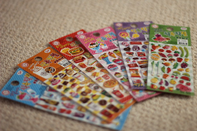 kawaii stickers - tofu cute kawaii food with faces