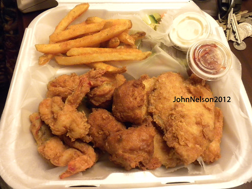 food fish hot sc dinner crust potatoes sauce fat shrimp delicious eat slaw seafood hungry cooked edible styrofoam greasy protein hushpuppies cholesterol ststephen friedfood starving lipids raretreat outofafghanistan