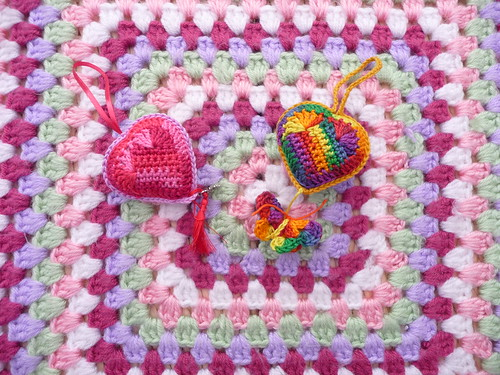 Beautiful Hearts made by Fiona with an Owl and Butterfly.. So cute!