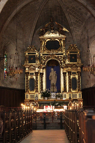 Inside the Chapelle Notre Dame de Beauvoir in Moustiers-Sainte-Marie, France