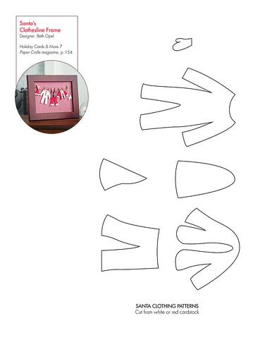 Santa's Clothesline Frame pattern