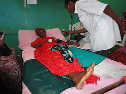 A victim of rape in Mogadishu recovering in the hospital