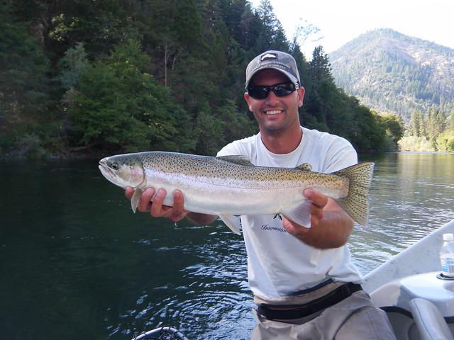 Trinity river fly fishing guide jeremy baker with an early for Trinity river fishing