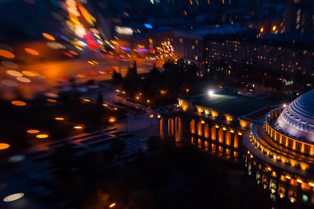 Фотографии Новосибирска ночью
