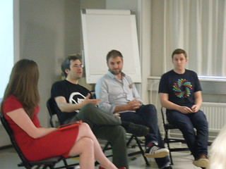 [IMG: Panel discussion]