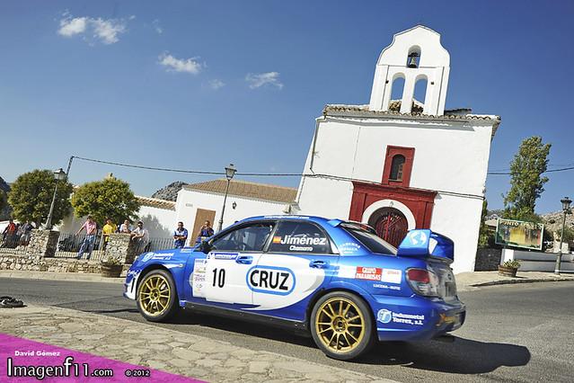 """Francisco Jiménez, Rally Sierra de Cádiz 2012, Subaru"""