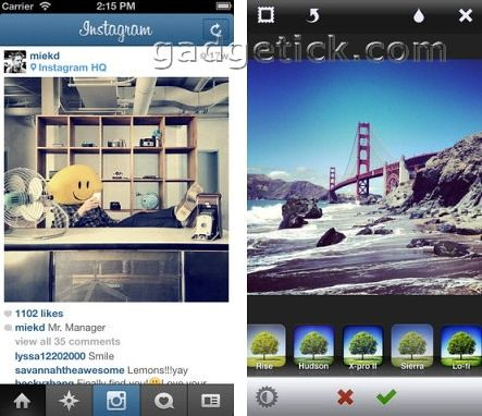Instagram для iPhone 5