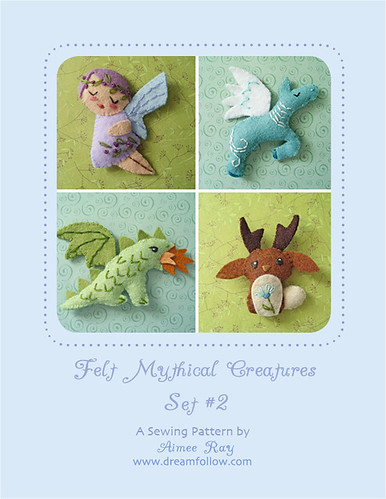 mini felt mythical creatures set 2