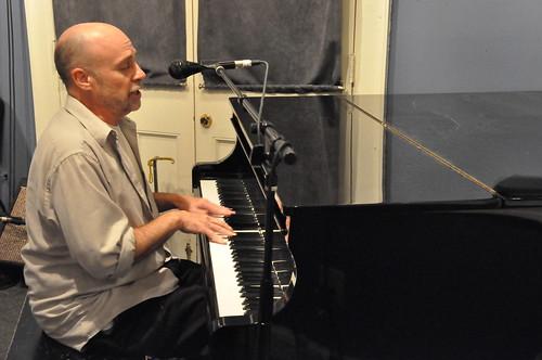 Bobby Lounge playing at WWOZ! Photo Kichea S Burt